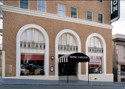 The exterior of Hotel Carlton in San Francisco