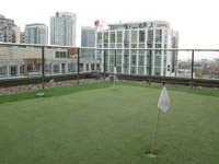 Rooftop putting green at Hôtel Le Germain in Toronto, Canada