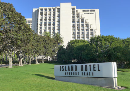 Island Hotel Newport Beach sits directly across the street from the Fashion Island Shopping Center in Newport Beach, California
