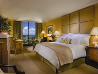 Luxurious guest room in Island Hotel Newport Beach in California