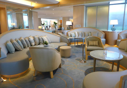 The chic Aqua Lounge at the Island Hotel Newport Beach in California