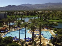 One of JW Marriott Desert Springs Resort & Spa's two main pool complexes, located  in Palm Desert, California
