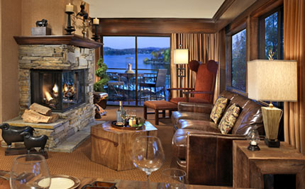 A room at Lake Arrowhead Resort and Spa in California