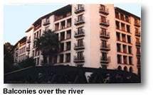 Omni La Mansion del Rio balconies over the river