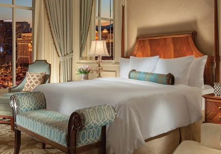 A guest room at The Venetian in Las Vegas, Nevada