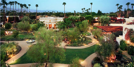 Thirteen acres of lush vegetation at Parker Palm Springs in California