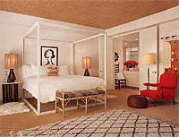 Jonathan Adler-designed rooms at the Parker Palm Springs in California