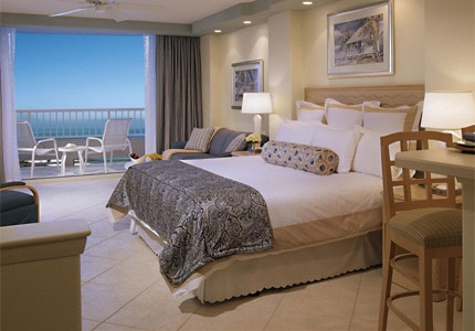 A Single Bed Suite at Lido Beach Resort in Sarasota, Florida