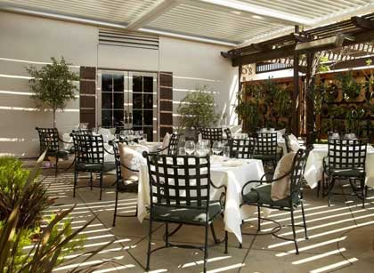 Carneros Bistro & Wine Bar patio at The Lodge at Sonoma Renaissance Resort & Spa in California