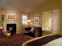 A cozy guest room at The Lodge at Sonoma Renaissance Resort & Spa in California