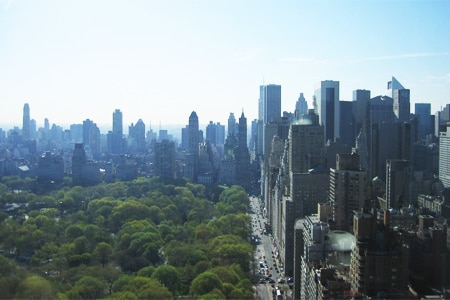The view from Mandarin Oriental, New York, one of GAYOT's Top 10 Business Hotels in New York