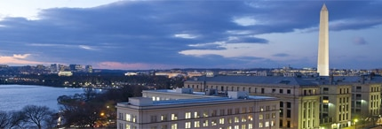 The Mandarin Oriental, Washington, D.C. is mere steps from the Washington Monument