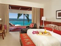 Luxurious guest room at Mauna Kea Beach Hotel in Hawaii