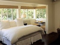 Sun-filled guest room at Meadowood Napa Valley in California