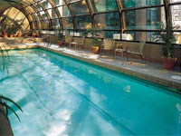 Heated indoor swimming pool at the Metropolitan Hotel in Vancouver