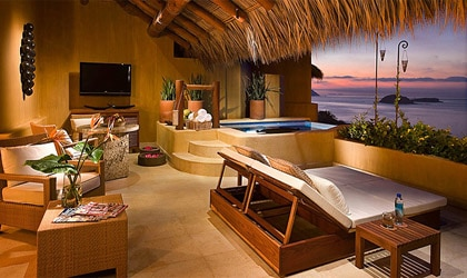 A room at Capella Ixtapa in Ixtapa, Mexico