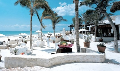 On the sand at Belmond Maroma Resort & Spa on the Riviera Maya