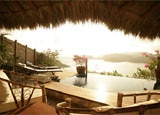 The view from a guest room at Amuleto in Zihuatanejo, Mexico