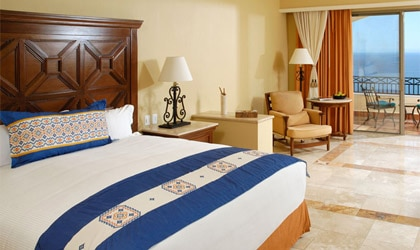 A guest room at Pueblo Bonito Sunset Beach Resort & Spa in Cabo San Lucas