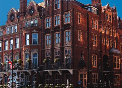 Victorian townhouse façade of The Milestone Hotel in London
