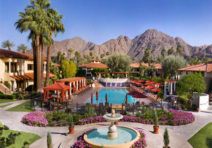 Majestic mountain views from the Miramonte Resort & Spa in Palm Springs, California