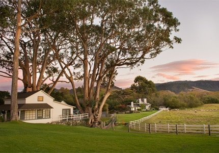 The historic Mission Ranch is a short walk from a white sand beach and is one of GAYOT's Top 10 Bed & Breakfast Hotels in Monterey/Carmel, California