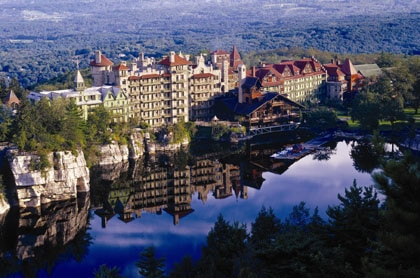 Mohonk Mountain House in New Paltz, New York in the summer