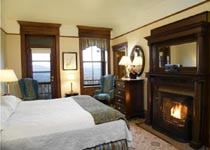 A guest suite at Mohonk Mountain House in New Paltz, New York
