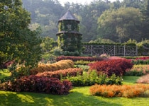 Mohonk Mountain House's gardens in the summer