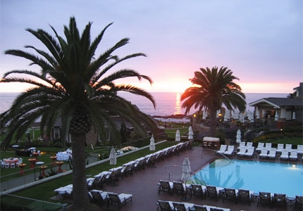Watch the sun set over the Pacific Ocean from Montage Laguna Beach, one of GAYOT's Top 10 Romantic Hotels in Orange County, California