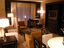 One of the suites at MotorCity Casino Hotel