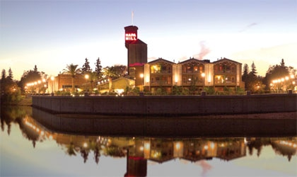 The Napa River Inn, set on the historic Napa Mill in California