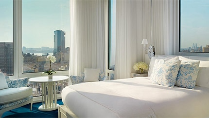 A Deluxe Suite at the Mondrian SoHo hotel in New York