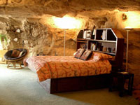 A room at Kokopelli's Cave Bed & Breakfast in New Mexico