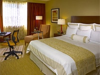 Comfy guest room of Hilton Chicago/Oak Brook Hills Resort & Conference Center in Illinois