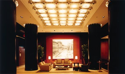 The foyer of Park Hyatt Chicago in Chicago, Illinois