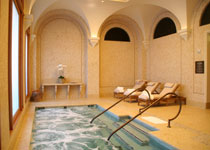 The hot tub at The Spa at Pelican Hill  at The Resort at Pelican Hill in Newport Beach, California