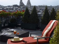 Gorgeous city views from balconies at Hôtel Plaza Athénée in Paris, France