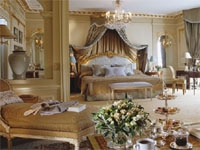 Luxurious guest suite at Hôtel Plaza Athénée in Paris, France