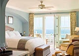 A guest room at Ocean House in Watch Hill, Rhode Island