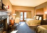 A guest room at Salish Lodge & Spa in Snoqualmie