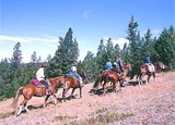 Horseback riding at Echo Valley Ranch & Spa in Canada