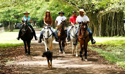 Horseback riding at The Painted Pony Guest Ranch in Casagua, Costa Rica
