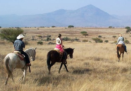 Different hotel packages cater to individual riding levels at Rancho Las Cascadas in San Agustin Buenavista, Mexico
