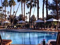 Relax by the Tranquility pool at Omni Rancho Las Palmas in Rancho Mirage, California