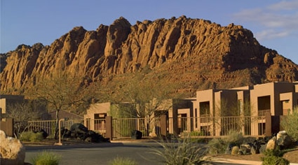 The exterior of the Red Mountain Spa in Utah