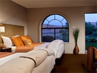 A deluxe room at the Red Mountain Spa