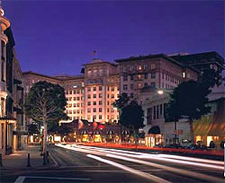 Ritzy Beverly Hills, home to the Beverly Wilshire, a Four Seasons Hotel