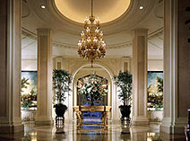 The lobby of the Beverly Wilshire, a Four Seasons Hotel