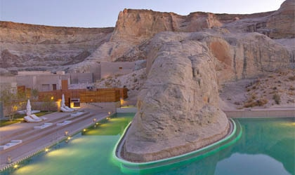 The pool at Amangiri in Canyon Point, Utah